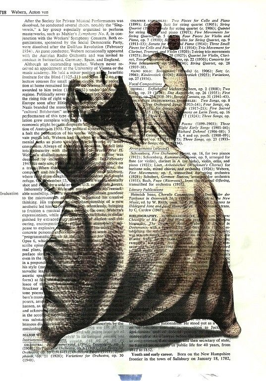 Oogie Boogie Man Nightmare Before Christmas Vintage Dictionary Altered Page Art - really cool