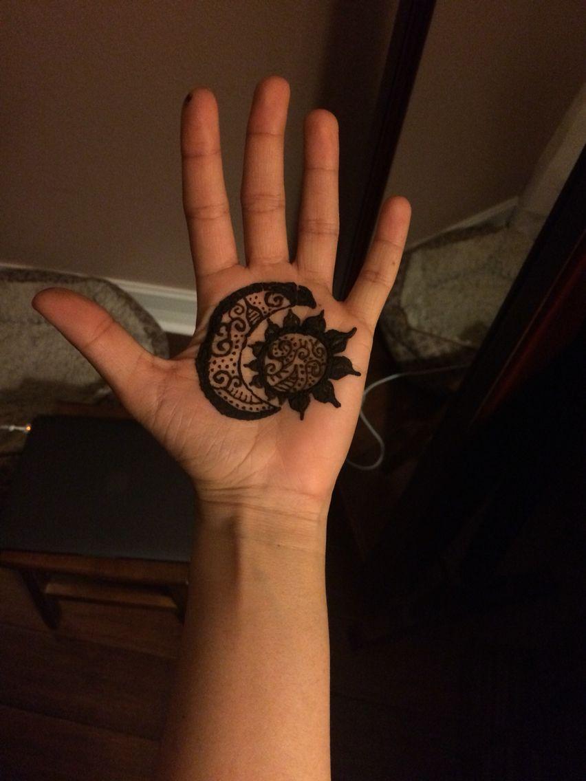 Half Moon And Sun Henna By Gaby Henna Moon Sun