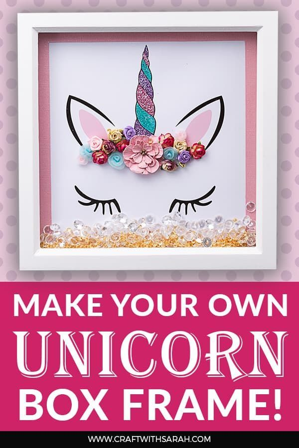 Unicorn Wall Art Tutorial & Free Printable - Unicorn wall art, Wall art tutorial, Unicorn crafts, Free printable crafts, Unicorn wall, Printable crafts - Create your own printable unicorn wall art  Flower crown unicorns are so popular at the moment  here's how to make your own glittery unicorn box frames