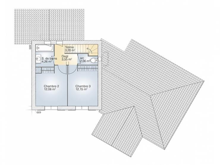 Plans de maison  1er étage modèle Diamant maison moderne à étage - plans de maison moderne