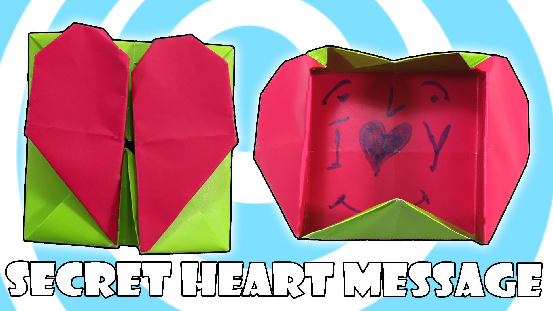 diy origami secret heart box valentines day idea origami heart