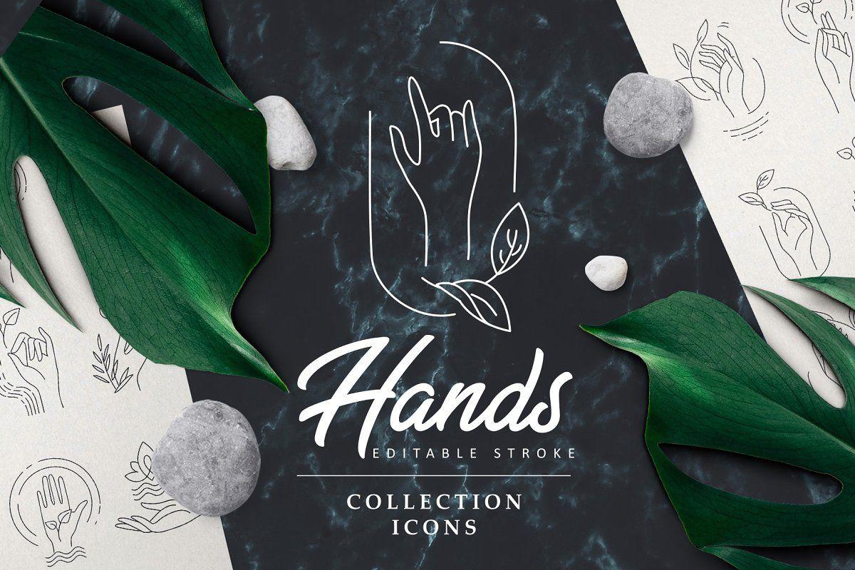 Hands. Logos & icons , ad, carecosmeticsdryEditable