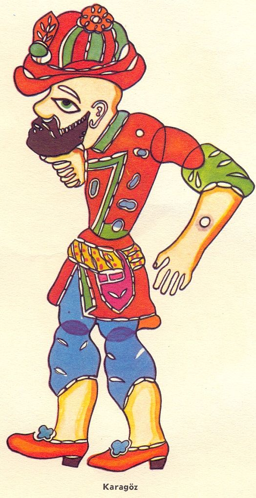 Karagz And Hacivat Shadow Play Illustration Shadow Puppets Coloring Books Shadow Play