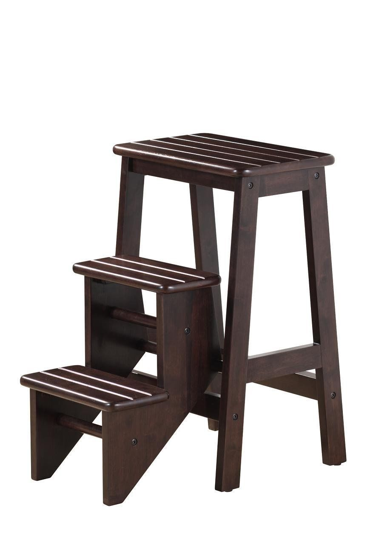 Wood Step Stool Folding Wooden Platform 3 Ladder Kitchen Office Home Furniture | eBay  sc 1 st  Pinterest & Wood Step Stool Folding Wooden Platform 3 Ladder Kitchen Office ... islam-shia.org