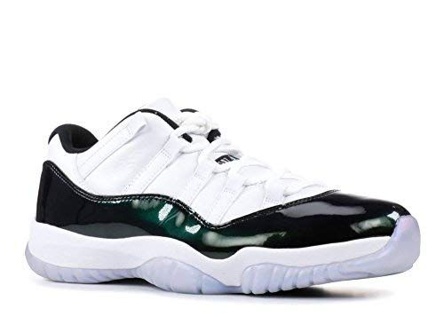 741e335c46041e Jordan Air 11 Retro Low Men s Basketball Shoes White Emerald Rise Black  528895-145 (12 D(M) US)