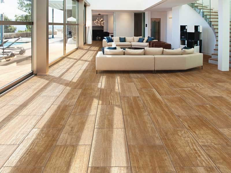 Yellow Wood Floor Tile | CTM | Wood look tile floor, Wood look tile, Wood  tile floors