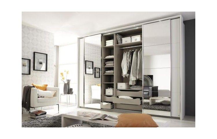 Schlafzimmer poco ~ Schwebetürenschrank syncrono alpinweiß 270 cm schlafzimmer und