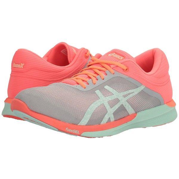 bf7687df947 ASICS FuzeX Rush (Mid Grey Bay Flash Coral) Women s Running Shoes ...