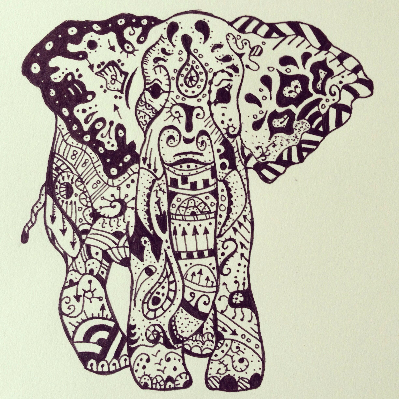 Henna Elephant Tattoo Designs: Because Who Doesn't Love Elephants? #elephants #elephant