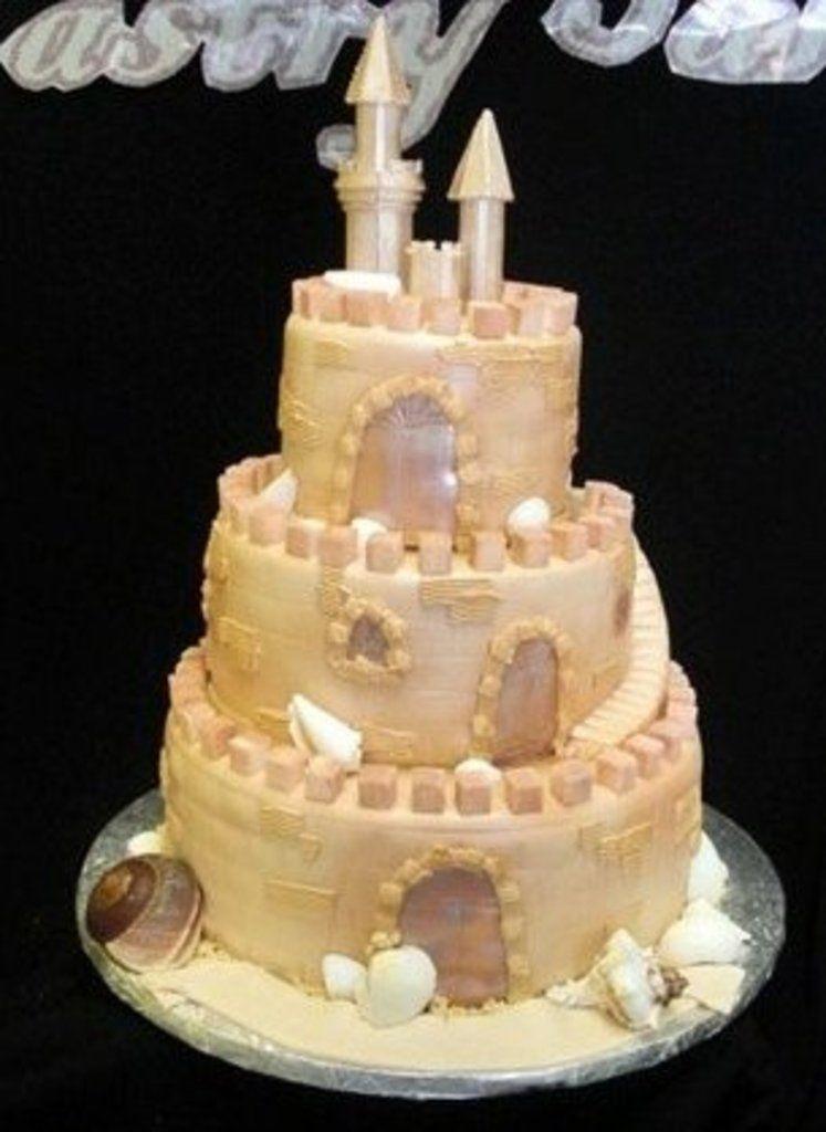 Pastry Palace Las Vegas - Wedding Cake #117 - Sand Castles. Three ...