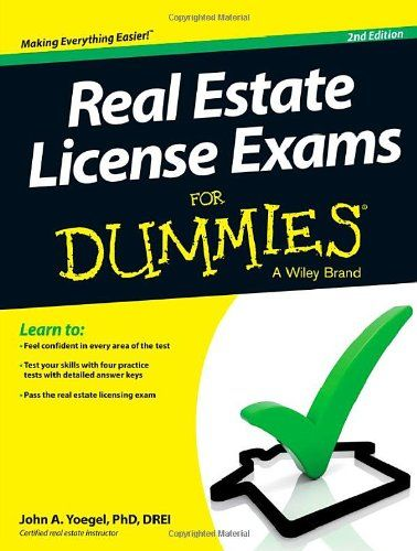 Real Estate License Exams For Dummies John A Yoegel Vision
