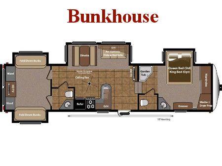 Rv 5th Wheel Bunkhouse Floor Plans Fifth Wheel Rv Floor Plans Travel Trailer Floor Plans Rv Floor Plans Camper Flooring