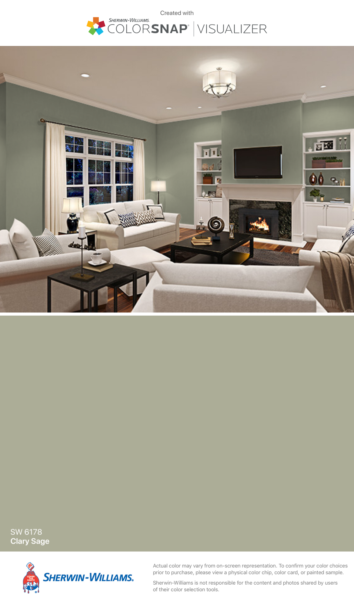 I Found This Color With Colorsnap Visualizer For Iphone By Sherwin Williams Clary Sage Living Room Colors Sherwin Williams Paint Colors Light Green Bedrooms