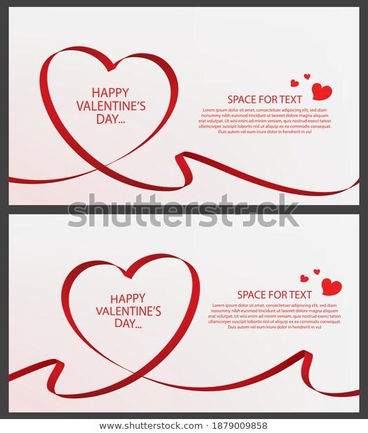 Happy Valentines Day Banner Design Vector เวกเตอร สต อก ปลอดค าล ขส ทธ 1879009858 ภาพประกอบ