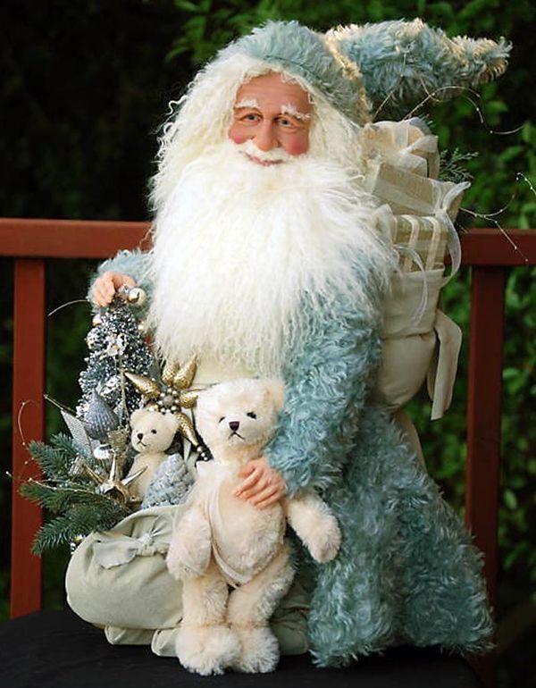 Aqua Christmas Beachy Christmas Father Christmas