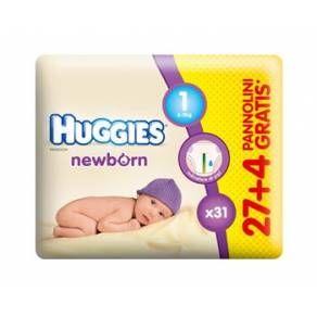Huggies Newborn Taglia 1 (2-5 kg) Pannolini per Neonati