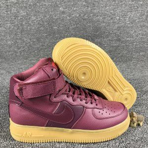 86968ec2b3ad Mens Womens Nike Wmns Air Force 1 Hi SE Night Maroon 860544 600 Running  Shoes