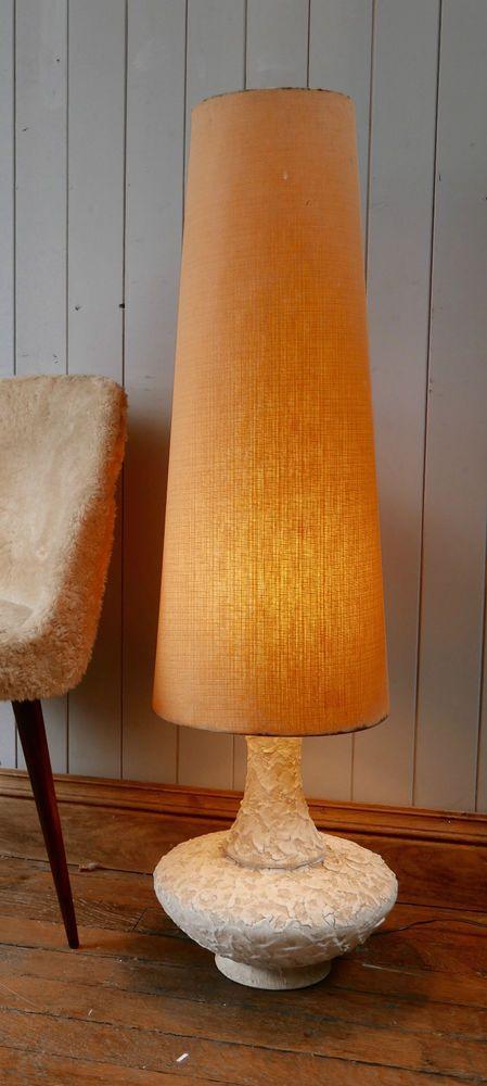 Vintage large cream retro 60s70s fat lava ceramic floor lamp with vintage large cream retro 60s70s fat lava ceramic floor lamp with lampshade mozeypictures Images