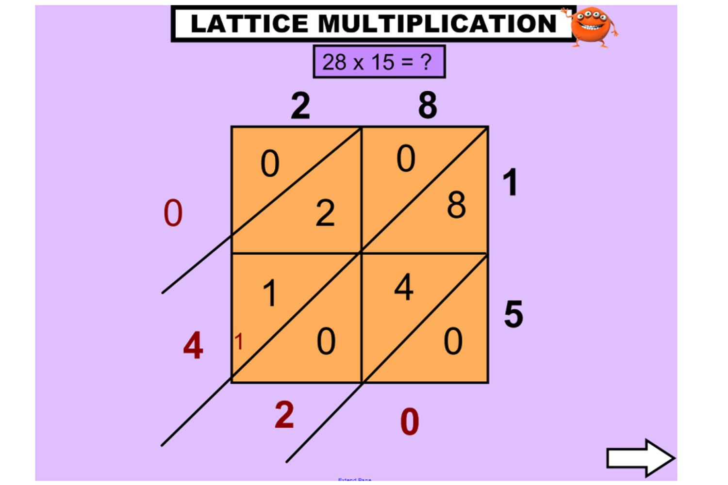 Explore The Lattice Method For Multiplying Large Numbers