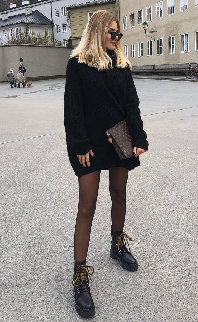 39 Trendy Coziest Sweater Dress Outfit Ideas for Women #sweaterdressoutfit