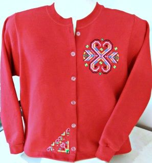 Embroidered Jackets - Carole's Creations Sweatshirt Jackets