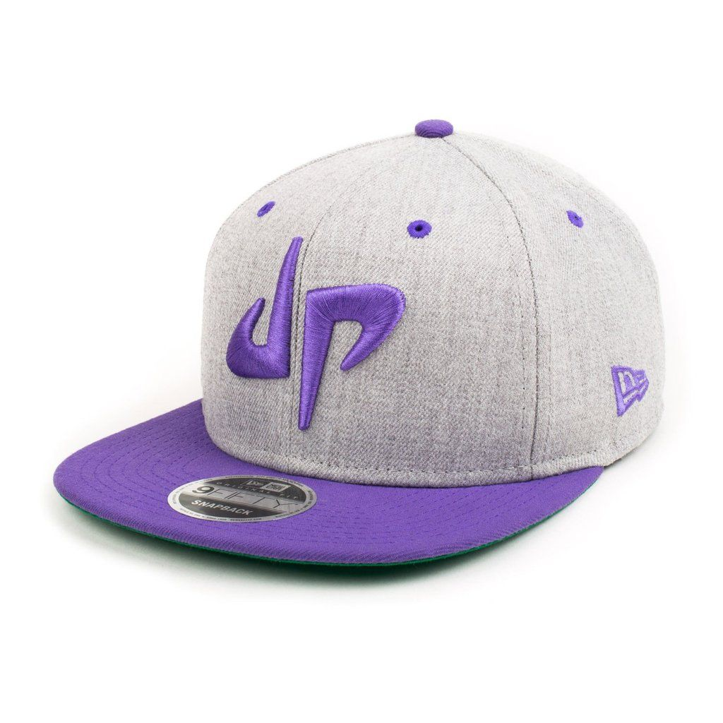 Dp X New Era 9fifty Snapback Gray Purple Dude Perfect New Era Dude Perfect Merchandise