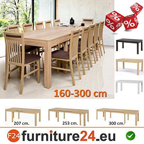 Tisch Küchentisch Esszimmertisch Esstisch WENUS Ausziehbar 300 Cm (Sonoma  Eiche) | Esstisch Eiche | Pinterest