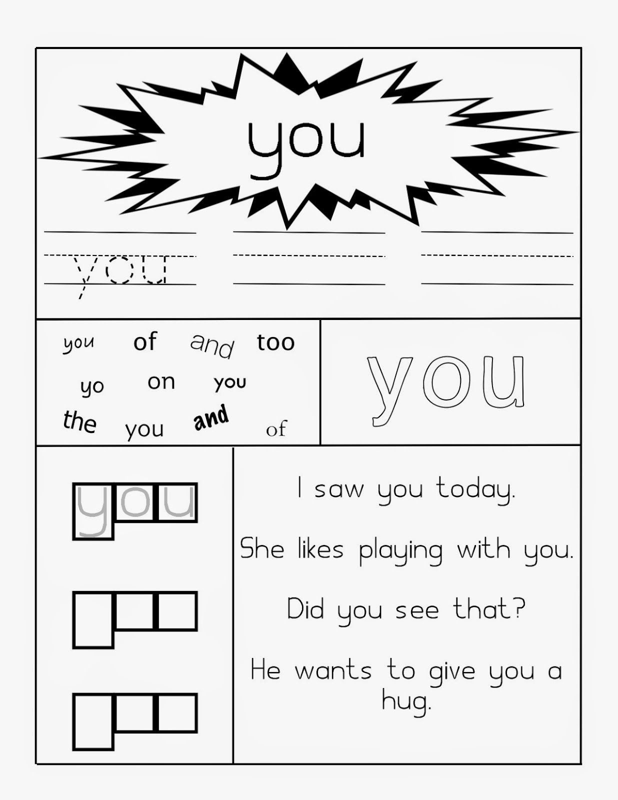 Learning Through Mom Sight Word Worksheets Free Printables