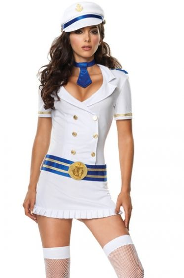Ideal for sexy sailorfancy dress costume parties, clubwear, pinup - halloween costume girl ideas