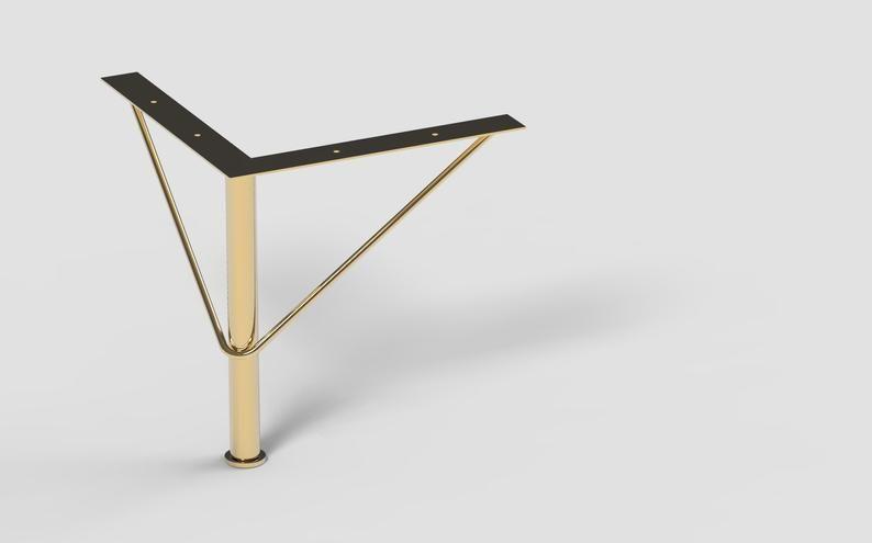 7 7 8 gold furniture legs for sofa