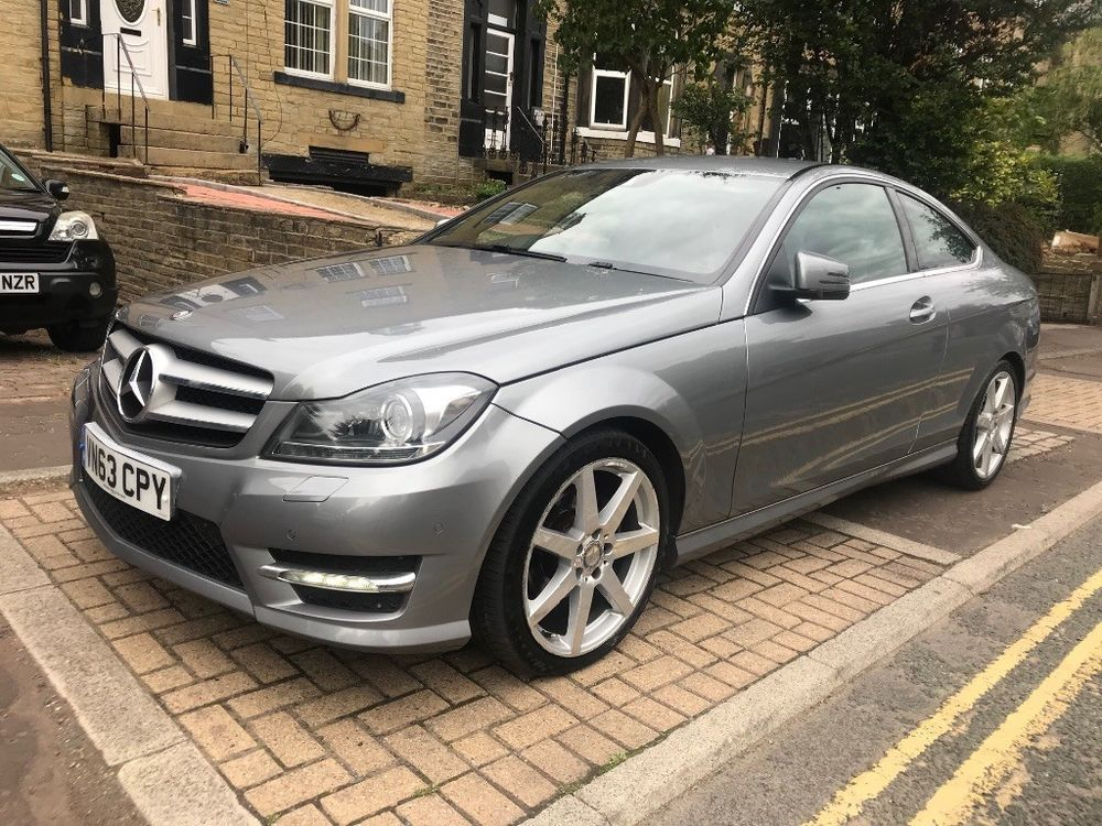 Ebay 2013 63 Mercedes C Class C220 Cdi Coupe 7g Amg Sport Damaged Repaired Carparts Carrepair Mercedes New Cars Coupe