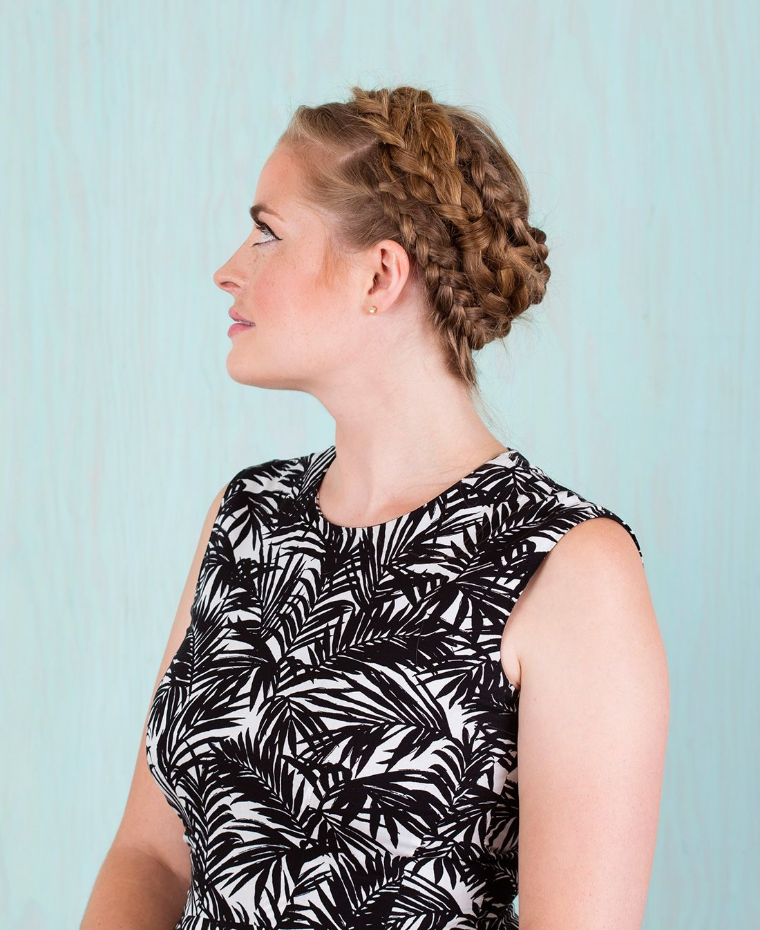 You Won't Believe How Simple It Is to Recreate This Spiral Braid via Brit + Co
