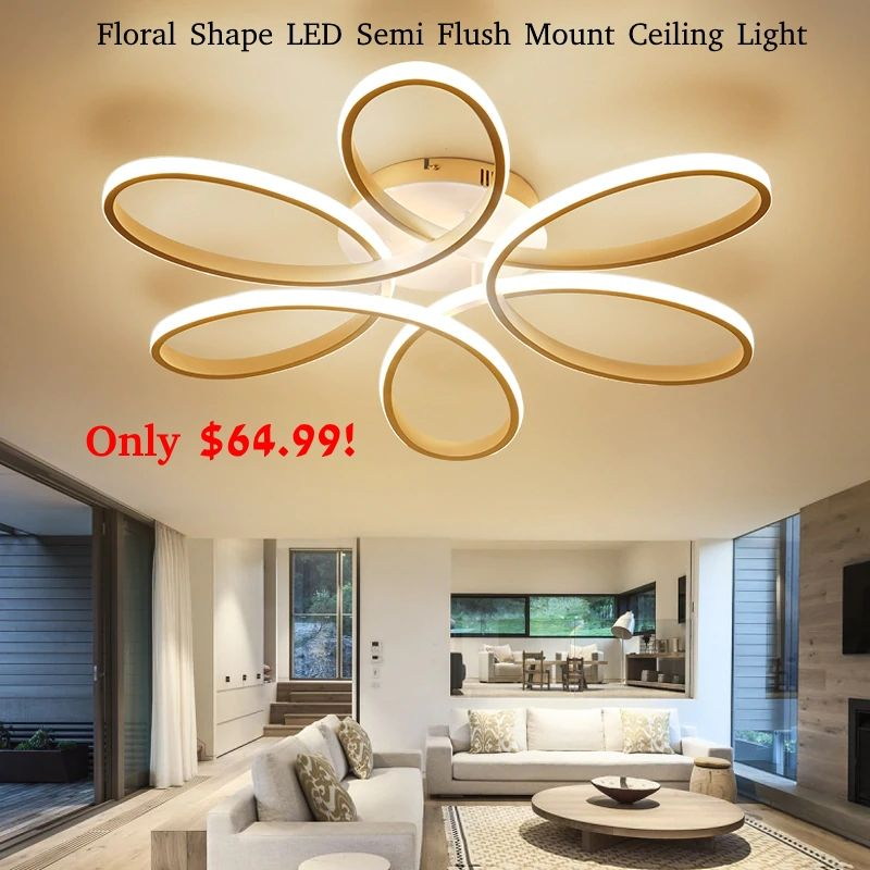 Check Out The Cool Everflower Floral Shape Led Ceiling Light Now Only 64 99 High Quality Ceiling Lights Modern Ceiling Light Ceiling Lights Living Room