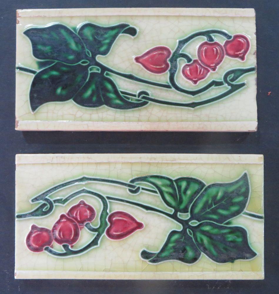 Antiqueart nouveau ceramic glazed tile boarder panel 6x 3 sign antiqueart nouveau ceramic glazed tile boarder panel 6x 3 sign logo qty dailygadgetfo Choice Image