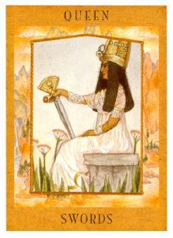 Queen of Swords Tarot Card - Goddess Tarot Deck | Tarot. Tarot decks. Queen of spades
