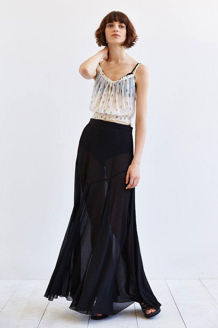 9246045916 Kimchi Blue Jayden Chiffon Godet Maxi Skirt   UO Exclusives   Maxi ...