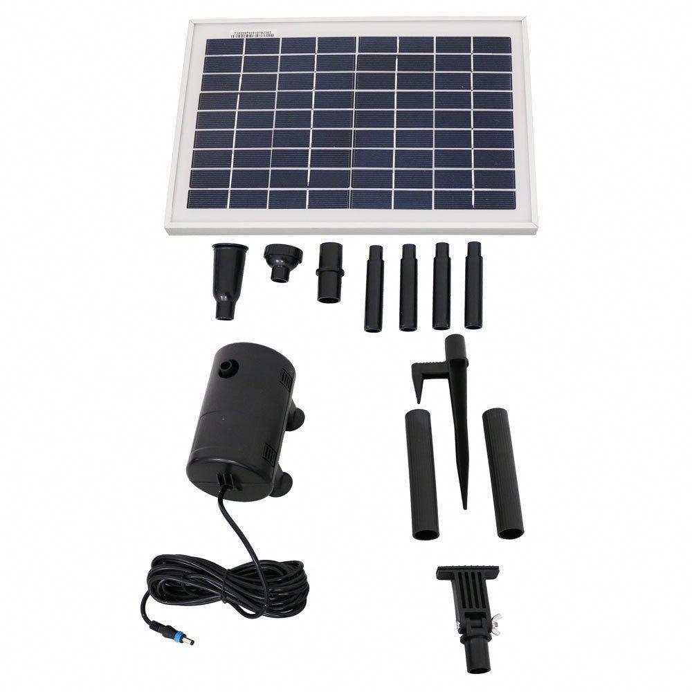 Sunnydaze Solar Pump And Solar Panel Kit With 2 Spray Heads 200 Gph 80 Inch Lift In 2020 Solar Energy Panels Solar Panel Kits Solar Heating