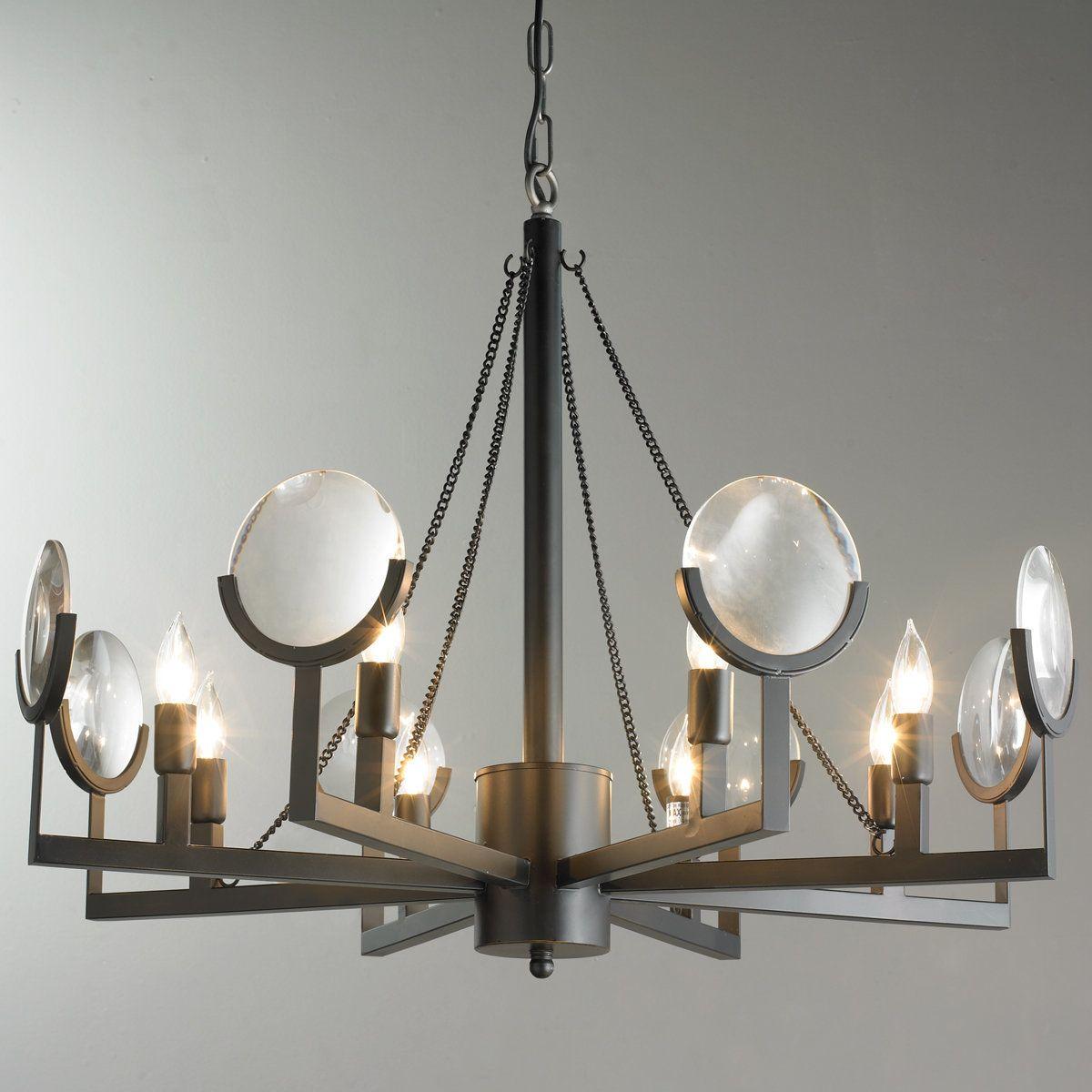 Master Bedroom Magnify Glass Chandelier Black Glass Chandelier Glass Lighting Modern Light Fixtures