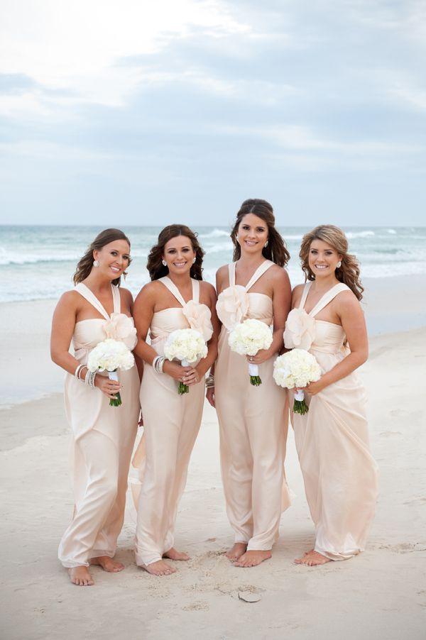 Beautiful Blush Bridesmaids Dress Romantic Beach Wedding Wedding