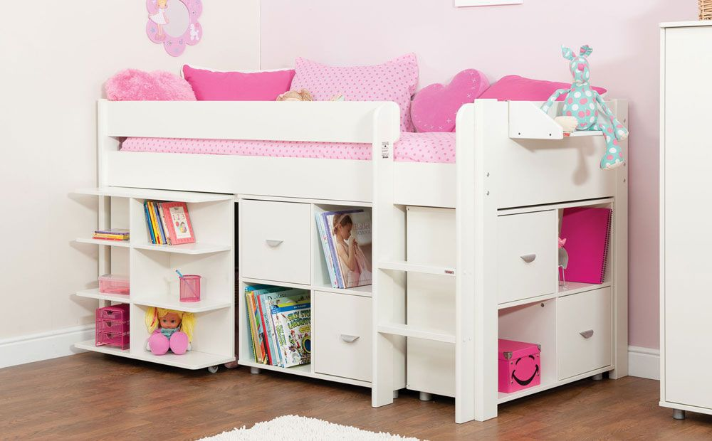 Stompa uno white midi sleeper bed large study set at - Wholesale childrens bedroom furniture ...