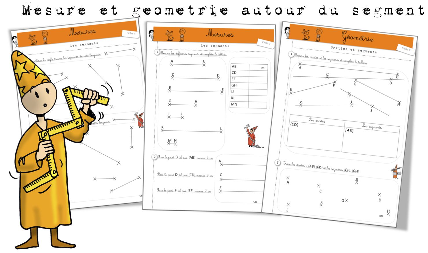 Géométrie et mesure sur les segments: exercices - Bout de ...