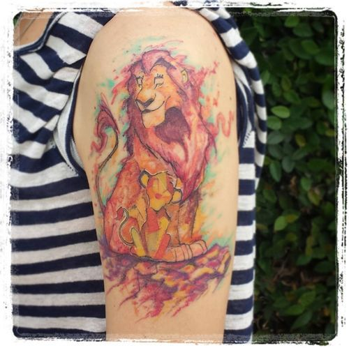 80cd1d5817d3c Lion King Tattoos & Hakuna Matata Tattoo & Simba and Nala (2019 ...