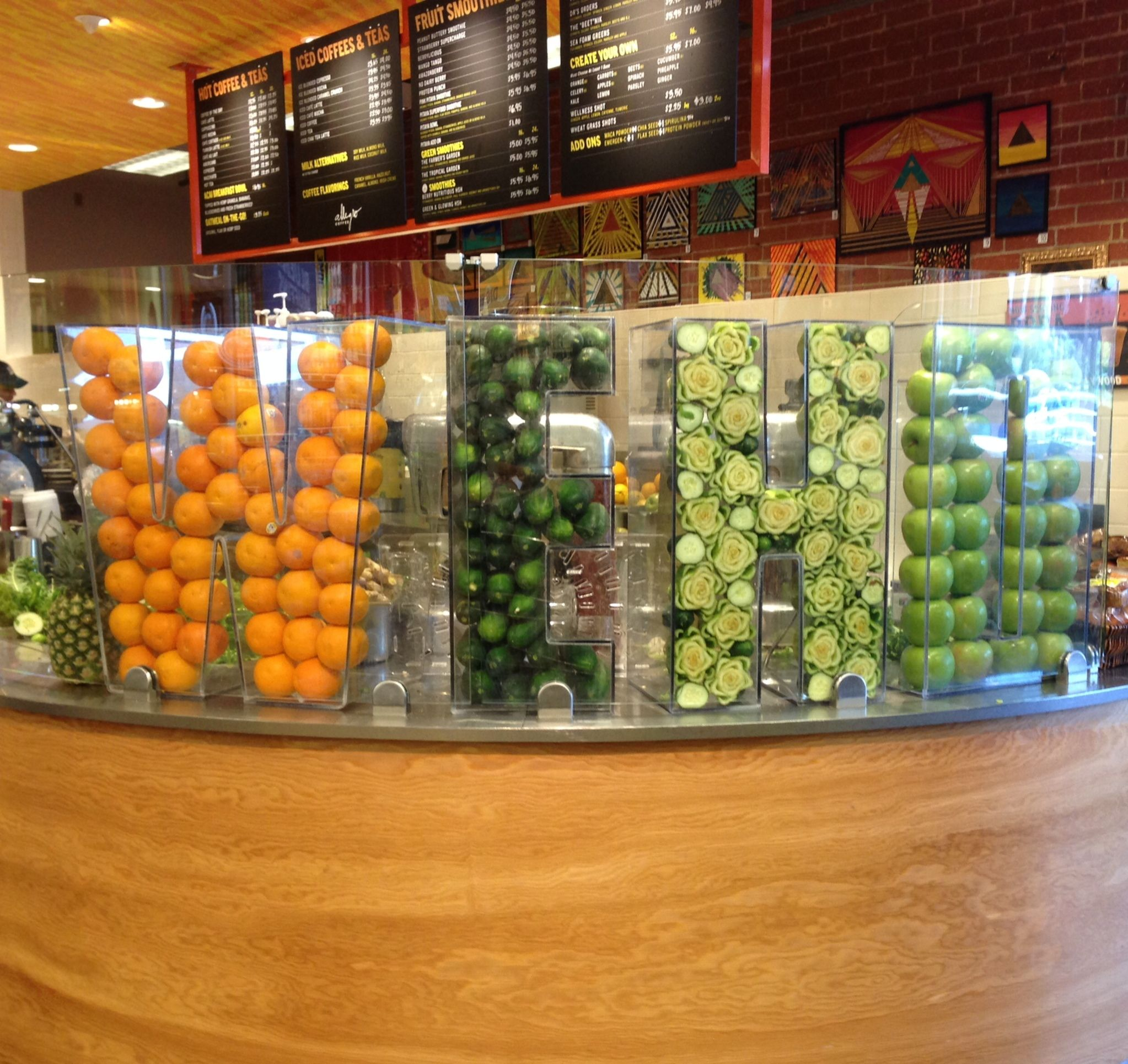 Juice Bar At Event With Lucite Lettering For Person 39 S