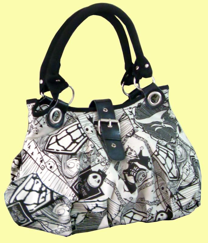 Nightmare Before Christmas Jack White Shoulder Tote Bag Handbag ...