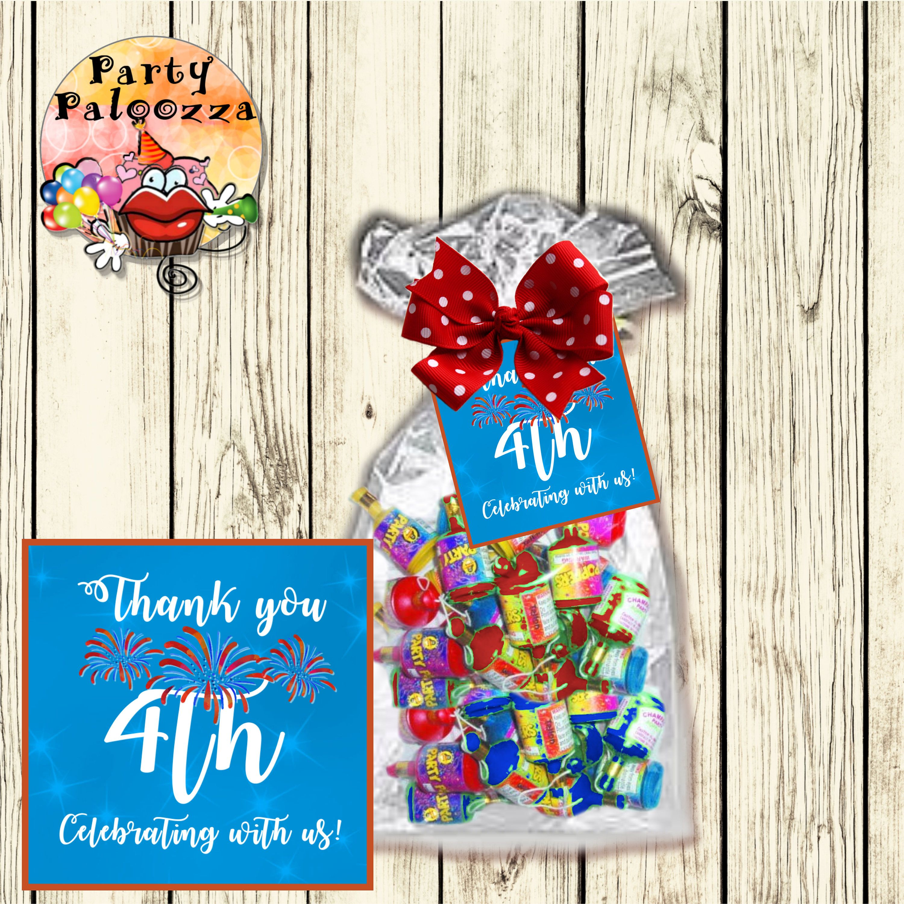 Printable 4th of July  Gift tag by PartyPaloozza on Etsy