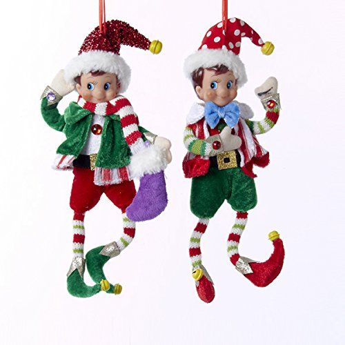 aef5ee05b731e Kurt Adler 13 Jingleville Fabric Elf Ornament 2asstd   Find out more about  the great product at the image link.