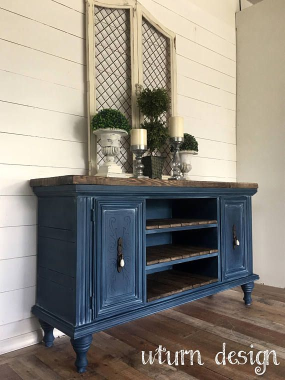 Dark Blue Navy Painted And Waxed Buffet Painted Furniture Colors