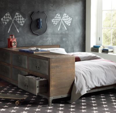 Industrial Locker Side Storage Bed For the Home Pinterest