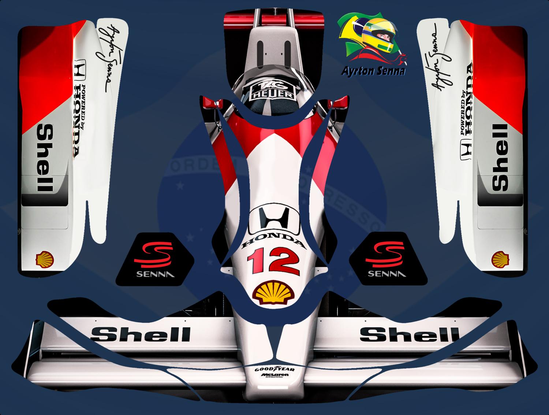 Mclaren Mp4 Ayrton Senna Karting Sticker Kit For Kg Evo Pods Nosecone Nassau Panel Ayrton Senna Karting Kart Racing [ 1133 x 1500 Pixel ]
