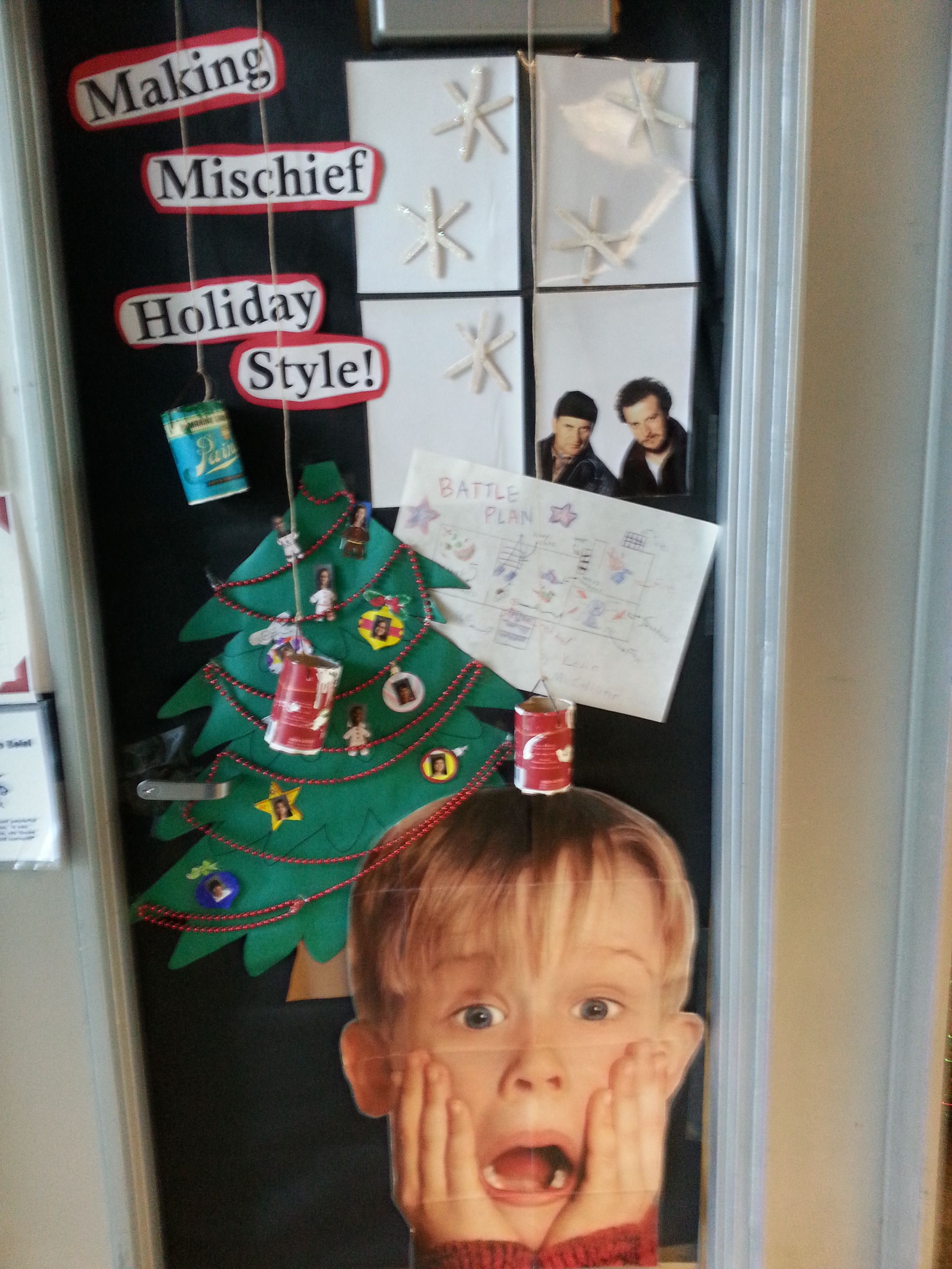 home alone classroom door librarianism pinterest